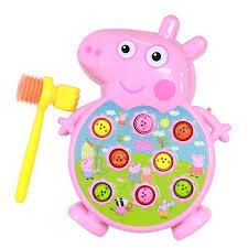 Bộ trò chơi đập chuột Pegpa Pig có nhạc đèn cho bé 0034