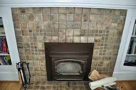 type options of the wood tile fireplace