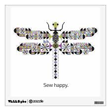 Cool Dragonfly Diva Quilt Wall Decal Zazzle Com