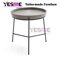 powder coated aluminum cement table top
