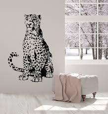 Vinyl Wall Decal Leopard African Wild Animal Predator Big Cat Stickers Wallstickers4you