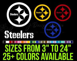 Steelers Decal Etsy