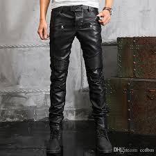 casual chaparajos meninos faux leather