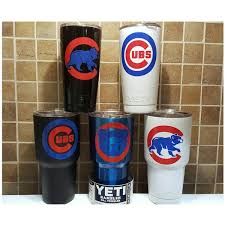 Yeti Authentic Chicago Cubs Yeti Cup Mug 20 Oz Or 30oz Rambler Tumbler 45 Liked On Polyvore Featuring Home Grey Mugs Tumbler Cups Diy Colored Tumblers