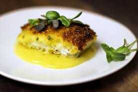 Crispy Crusted Halibut with White Wine ...