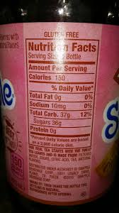 snapple tea raspberry calories