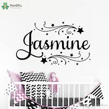 Girls Room Personalized Name Wall Decal Kids Nursery Room Vinyl Wall Stickers For Kids Rooms Girls Name Custom Art Decor Diy Wall Stickers Tree Wall Stickers Uk From Joystickers 11 04 Dhgate Com