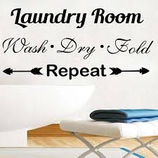Laundry Sign Wall Decals Quotes Wash Dry Fold Vinyl Sticker Decal Quote Laundry Room Home Decor Interior Bathroom Design N237 Wall Stickers Aliexpress