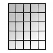 mace metal window frame wall mirror
