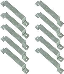 10 X Fence Brackets Post Clamps Security Brackets Anti Rattle Fence Panel Brackets Amazon Co Uk Garden Outdoors