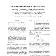 tree structured decoding for solving