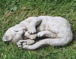 stoneware cat garden ornaments