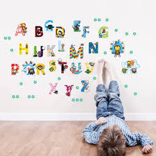 Amazon Com Decorstyle Alphabet Wall Decals Baby And Toddler Wall Decor Fun Abc Wall Stickers For Nursery And Kids Rooms Super Heros Home Kitchen