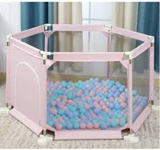 Amazon Com Shwsm Children S Fence Child Safety Fence Children S Home Park Ball Pool Block Bar Entertainment Play Fence Color Pink Home Kitchen