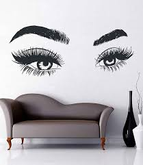 Eyes Wall Decals Eyelashes Wall Sticker Make Up Wall Decal Girls Eyes Eyebrows Wall Decor Beauty Salon Decoration Make Up Wall Decor Kik3365 Beauty Salon Decor Salon Decor Beauty Room Decor