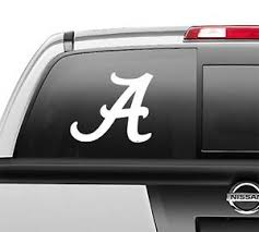 Alabama A Crimson Tide Window Sticker Vinyl Decal Any Size Any Color Ebay