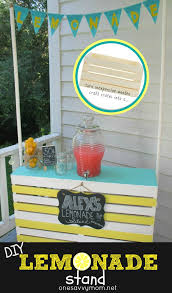 how to build an easy diy lemonade stand