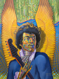 Little Wing Jimi Hendrix - Mr Atomic Art