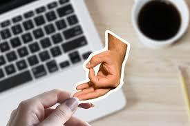 Circle Game Hand Ok Finger Thumb Sign Vinyl Sticker Best Etsy