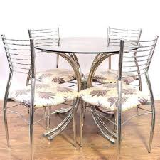 modular round ss dining table set