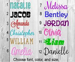 Name Or Word Decal Personalized Solid And Glitter Color Choices Vinyl Lettering For Cup Tumbler Car Window Laptop Lovely Novelty In 2020 Vinyl Lettering Lettering Words