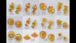 stud gold earrings designs with