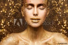 gold fashion makeup art beauty face