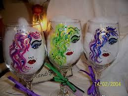 hand painted wine glasses diva of 2