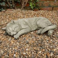 large sleeping cat ornaments