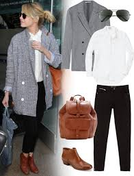 emma stone airport outfit with madewell