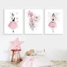 2020 Kids Room Decor Pictures Baby Girls Bedroom Picture Nursery Wall Art Pink Painting Posters And Prints Nordic Unframed From Maggiequan 8 59 Dhgate Com