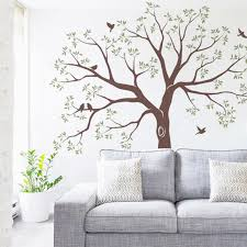 Staircase Family Tree Wall Decal Vinyl Stickers Huge Family Tree And Birds Decal Baby Nursery Tree Wall Art Sticker Wall Stickers Aliexpress