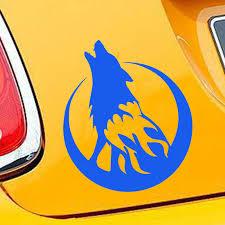 13 15cm Wild Animal Car Sticker Howling Wolf Moon Decorative Accessories Waterproof Vinyl Decal Aliexpress Com Imall Com