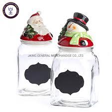 snowman clear glass jars