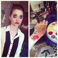 ventriloquist dummy makeup look