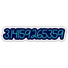 Pi 3 14 Math Number 5 Vinyl Sticker For Car Laptop I Pad Waterproof Decal Walmart Com Walmart Com