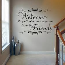 Welcome May All Who Came As Guest Quote Wall Decals Wall Stickers