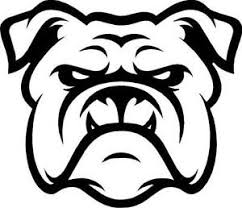 Bulldog Face Outline Vinyl Decal Sticker Cute Animal Dog Family Pet Ebay