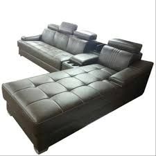 leather l shape sectional sofa set