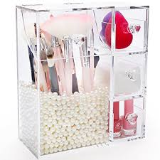 makeup brush holder with lid large
