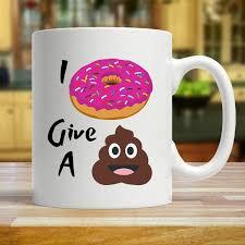 i doughnut give a sh t emoji mug
