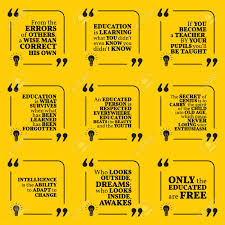 set of motivational quotes about intelligence learning education
