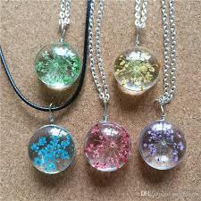 diy glass pendants snow pearl flower