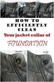 clean foundation from jacket collar