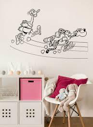 Vinyl Wall Decal Funny Animals Ostrich And Cheetah Treadmill N1209 Ebay