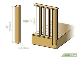 How To Build A Deck Railing With Pictures Wikihow