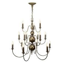 flemish 15 light chandelier bronze