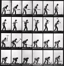 Pickaxe Man Photograph by Eadweard Muybridge