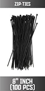 Amazon Com Tang Sunshades Depot 8 In Black Zipties Cable Ties 100 Pcs For Faux Winter Green And Ivy Privacy Fence Screen With Expandable Panels Garden Outdoor