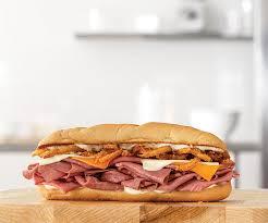 arby s three cheese roast beef sandwich
